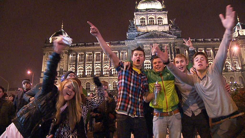 Silvestrovské veselí v Praze