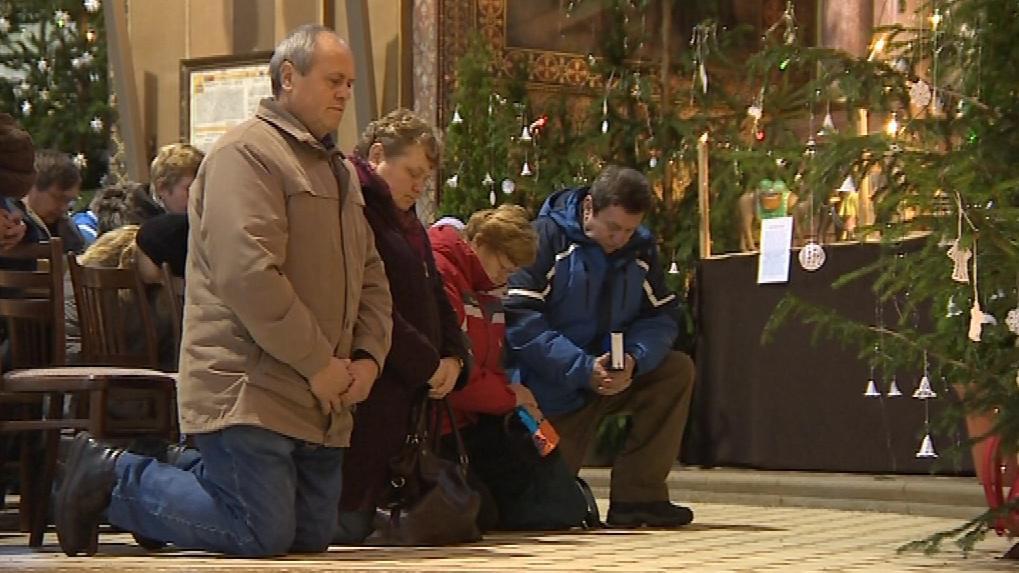 Někteří věřící se rozhodli přivítat rok 2012 na poutním místě