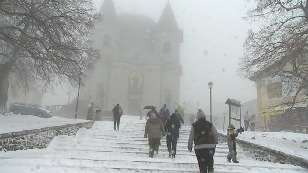 Svatý Hostýn v zimě