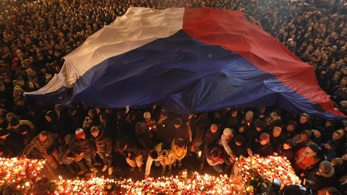 Vzpomínka na Václava Havla - Václavské náměstí, 21. prosince 2011