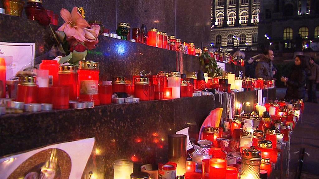 Loučení s Havlem na Václavském náměstí