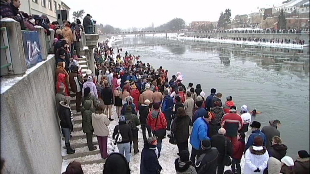 Novoroční plavání v Olomouci