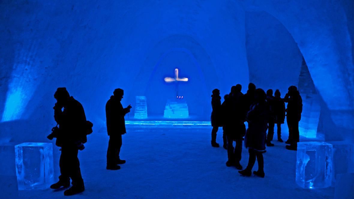 Sněhový kostel v Mitterfirmiansreutu