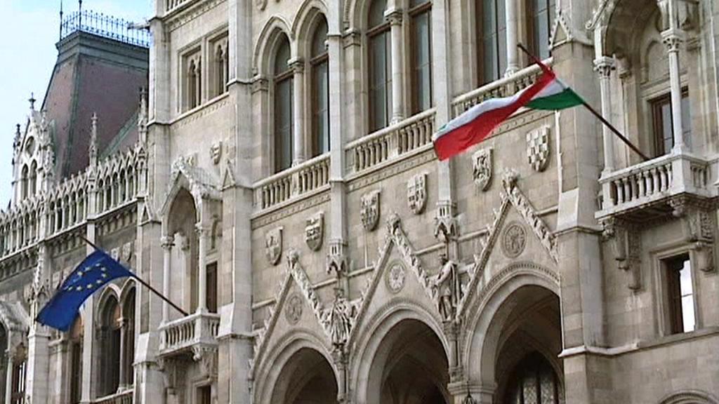 Vlajky Maďarska a EU