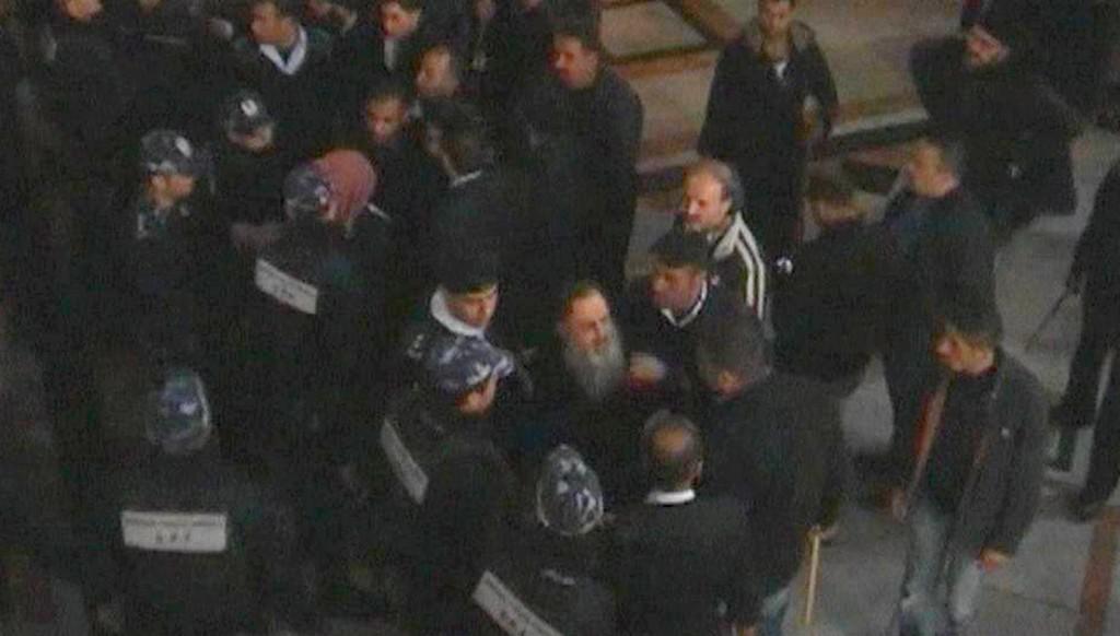 Rvačka mezi kněžími v Betlémě