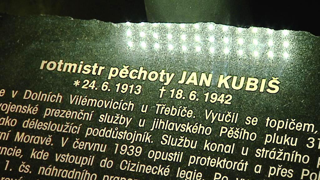 Pamětní deska Jana Kubiše