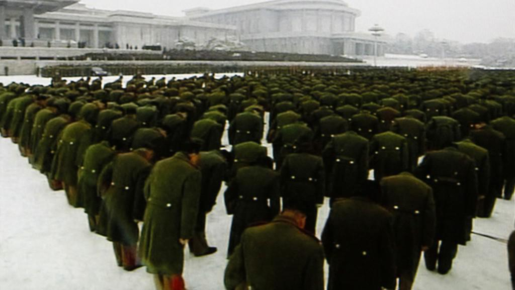 Truchlící severokorejská armáda
