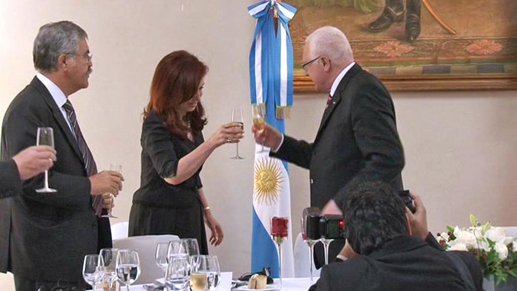 Václav Klaus a Cristina Fernándezová