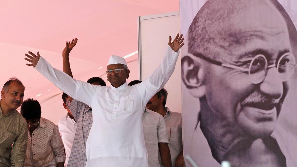 Bojovník proti korupci Anna Hazare