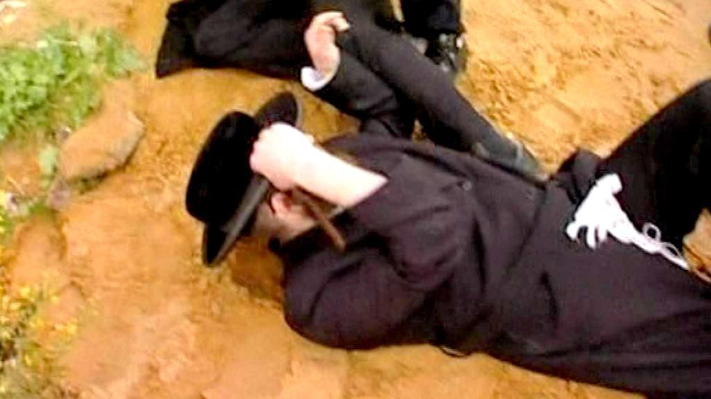 Střet židů s izraelskými policisty