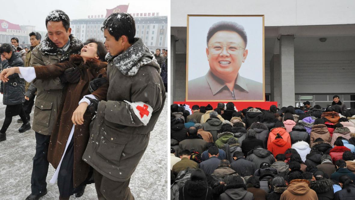Truchlící Severokorejci se bez lékařské pomoci neobejdou