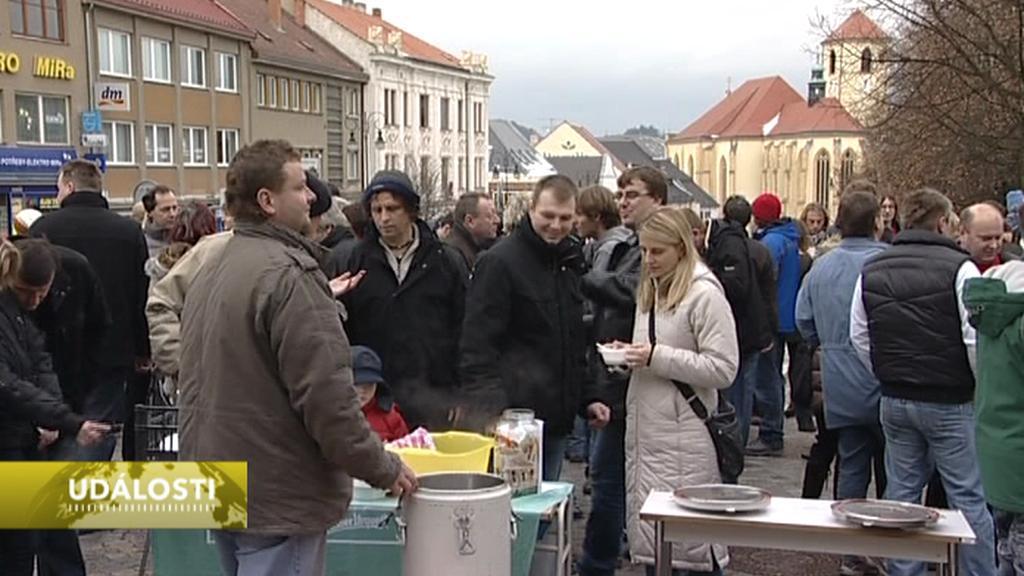Rozlévání polévky v Boskovicích