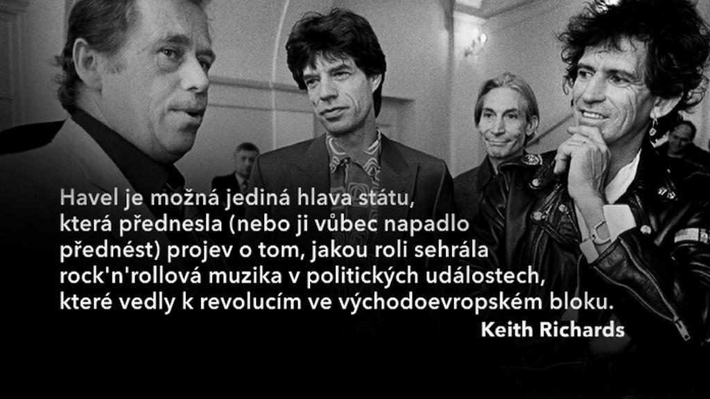 Václav Havel a Rolling Stones