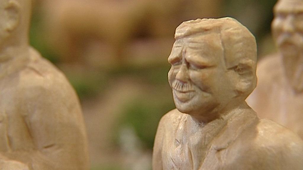 Václav Havel v třešťském betlému