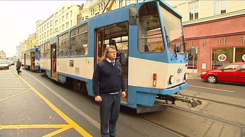 Minuta ticha řidičů tramvají v Ostravě
