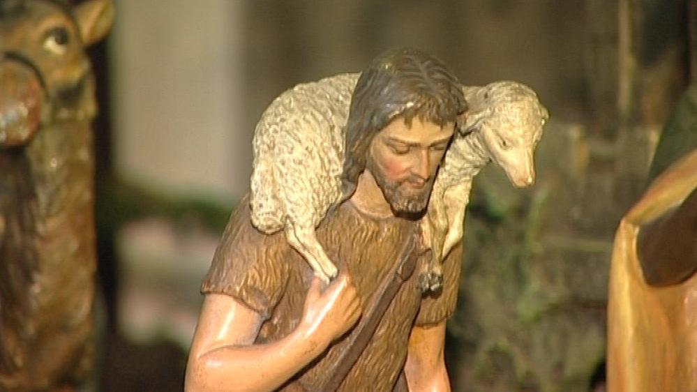 Pastýř v betlémě