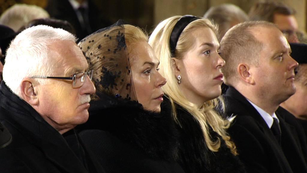 Václav Klaus, Dagmar Havlová a její dcera Nina