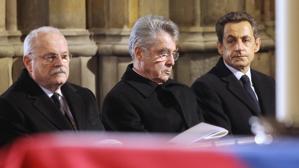 Ivan Gasparovič, Heinz Fischer a Nicolas Sarkozy
