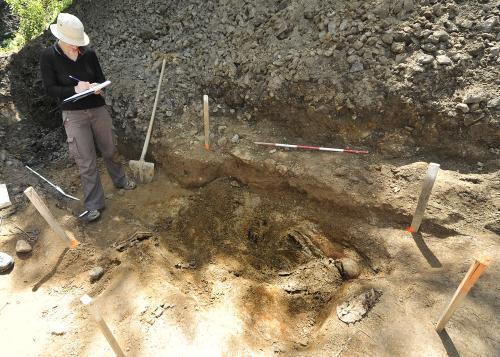Vykopané ostatky u Dobronína