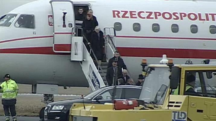 Přílet polské delegace