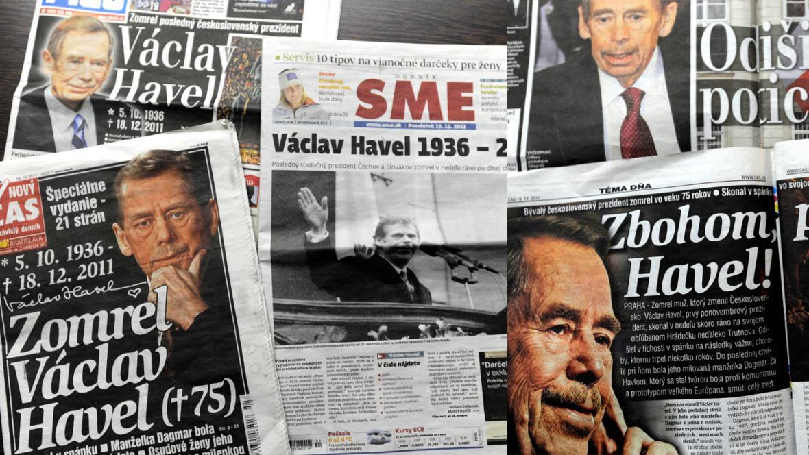 Slovenský tisk k úmrtí Václava Havla