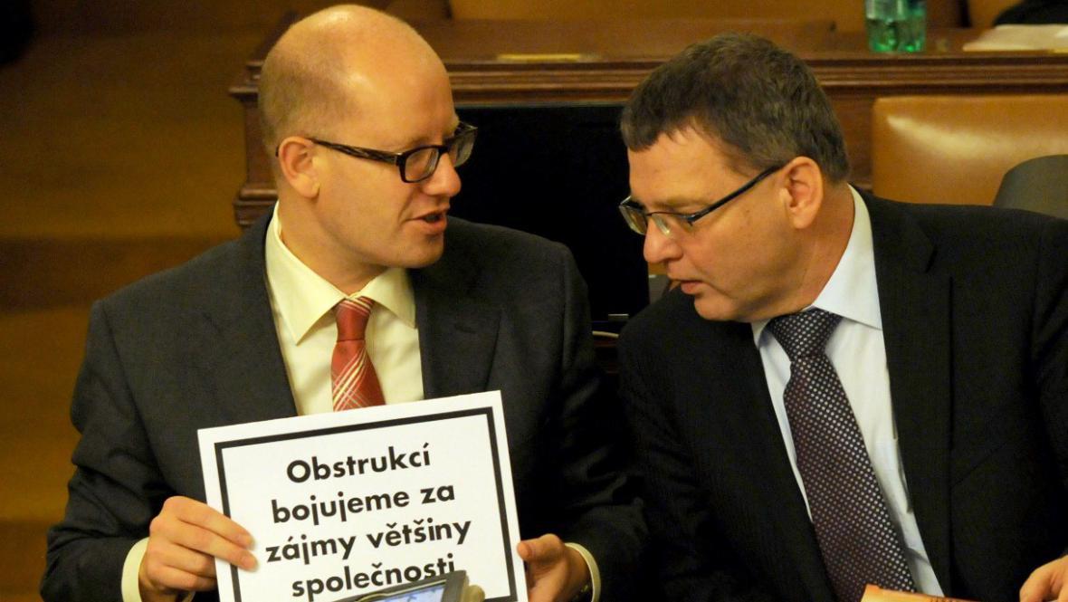 Obstrukce ČSSD ve sněmovně