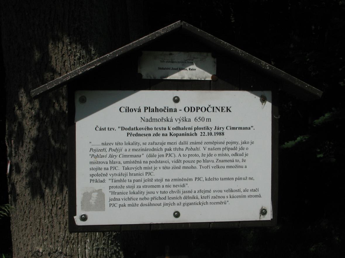 Cílová Plahočina na stezce Járy Cimrmana
