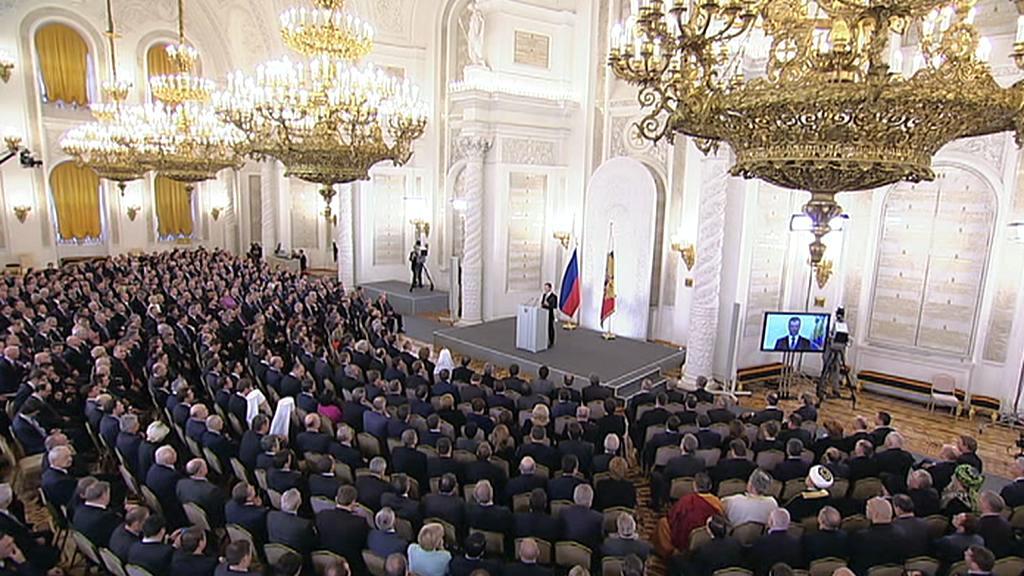 Dmitrij Medvěděv přednesl výroční zprávu o stavu země
