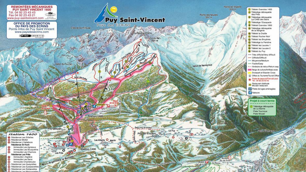 Mapa střediska