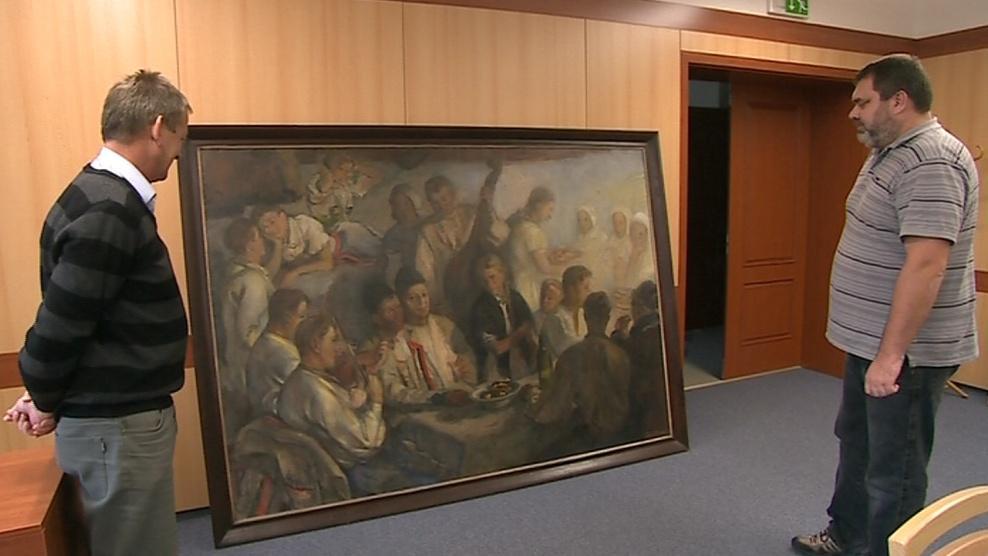 Obec chce koupit obraz Karla Mináře
