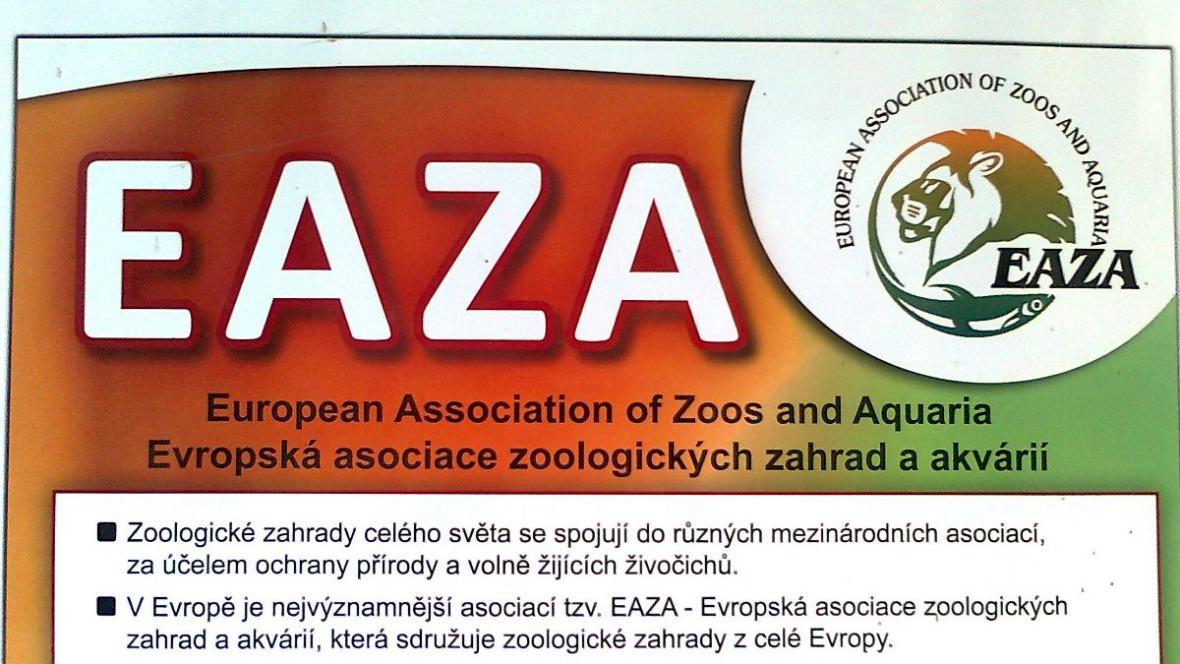 Brněnská zoo je členem asociace EAZA