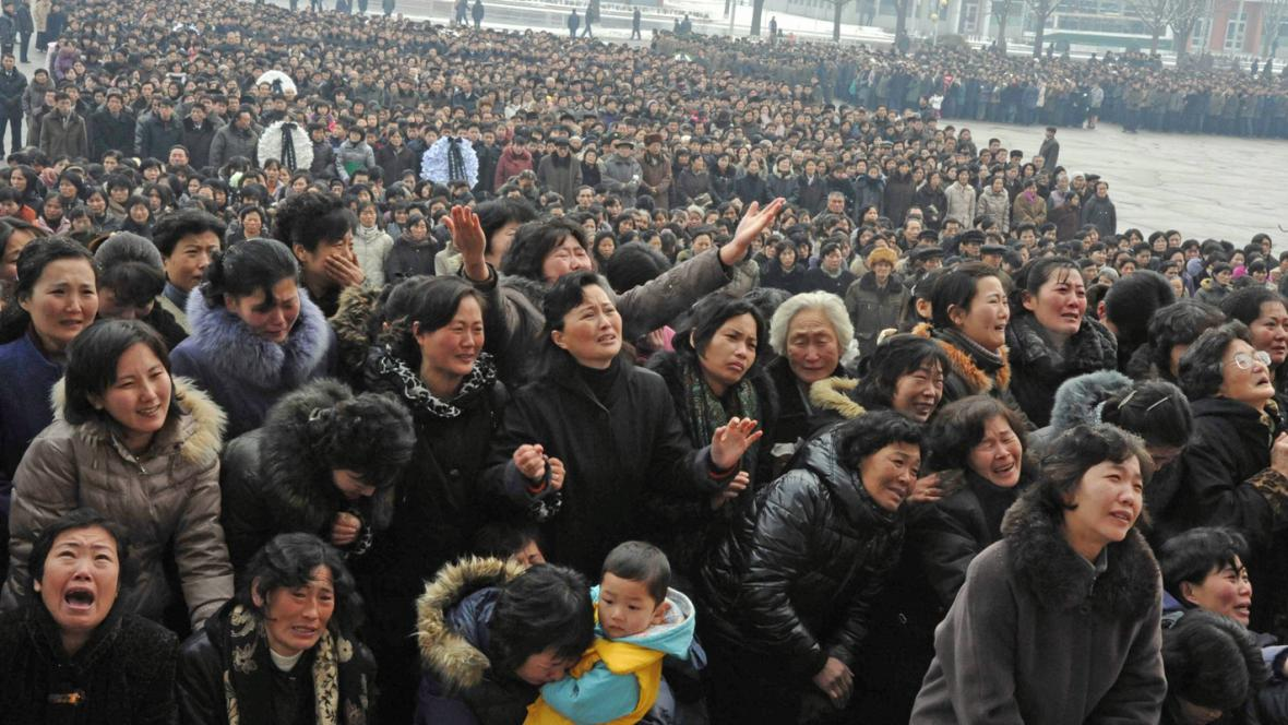 Davy truchlících Severokorejců