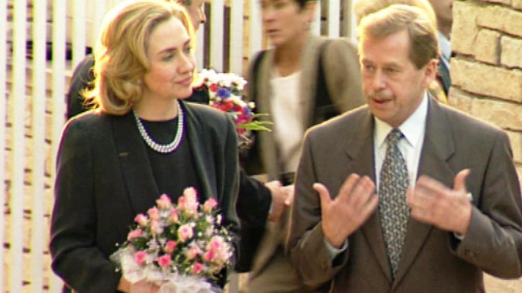 Hillary Clintonová a Václav Havel