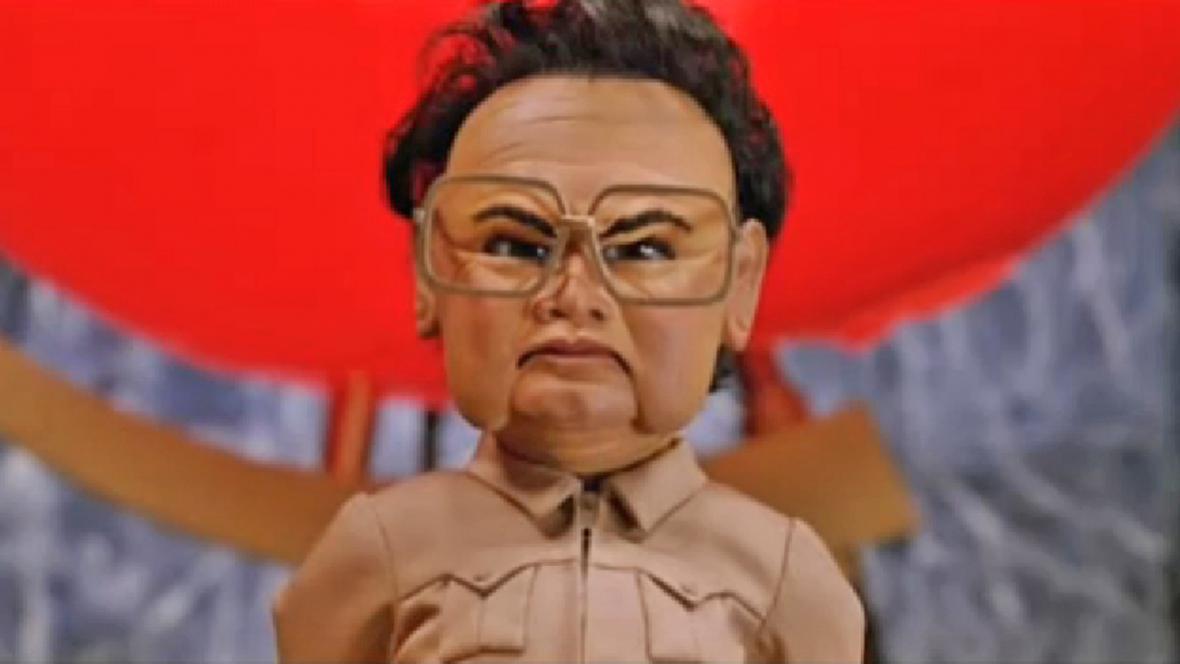 Kim Čong-il ve snímku Team America