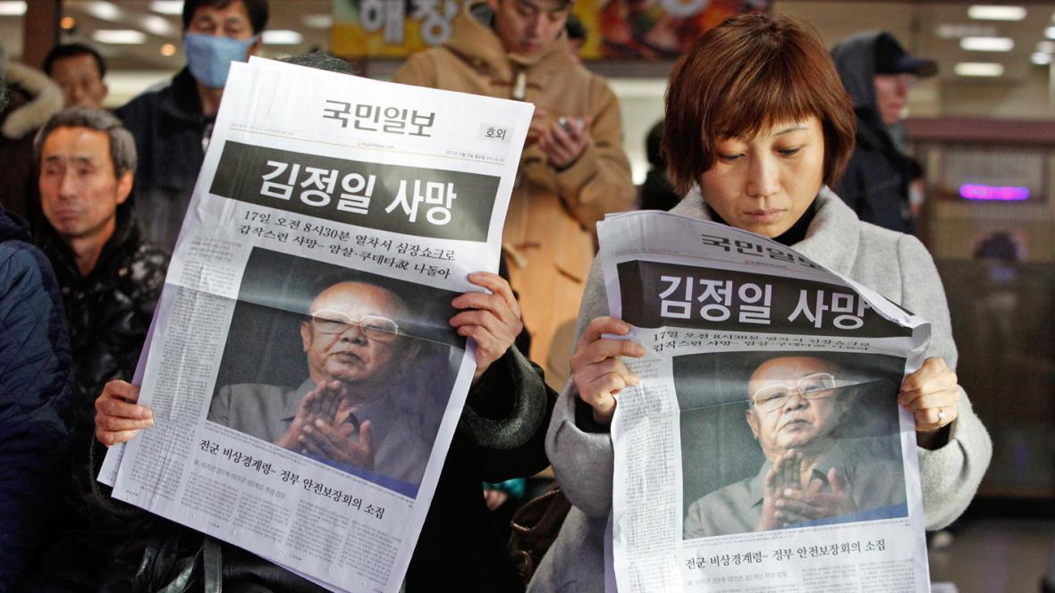 Severokorejce zasáhla zpráva o smrti Kim Čong-ila