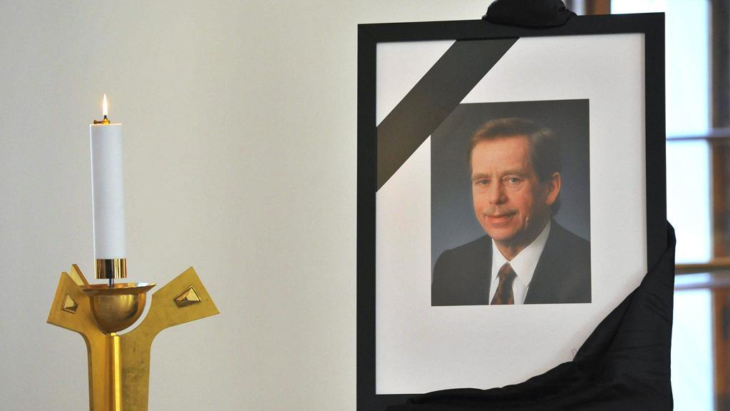 Václav Havel - místo pro podpis kondolenčních listin