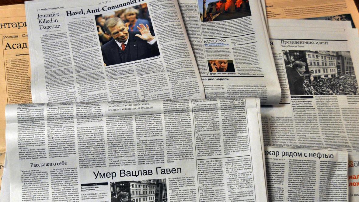 Ruské deníky píší o Havlovi