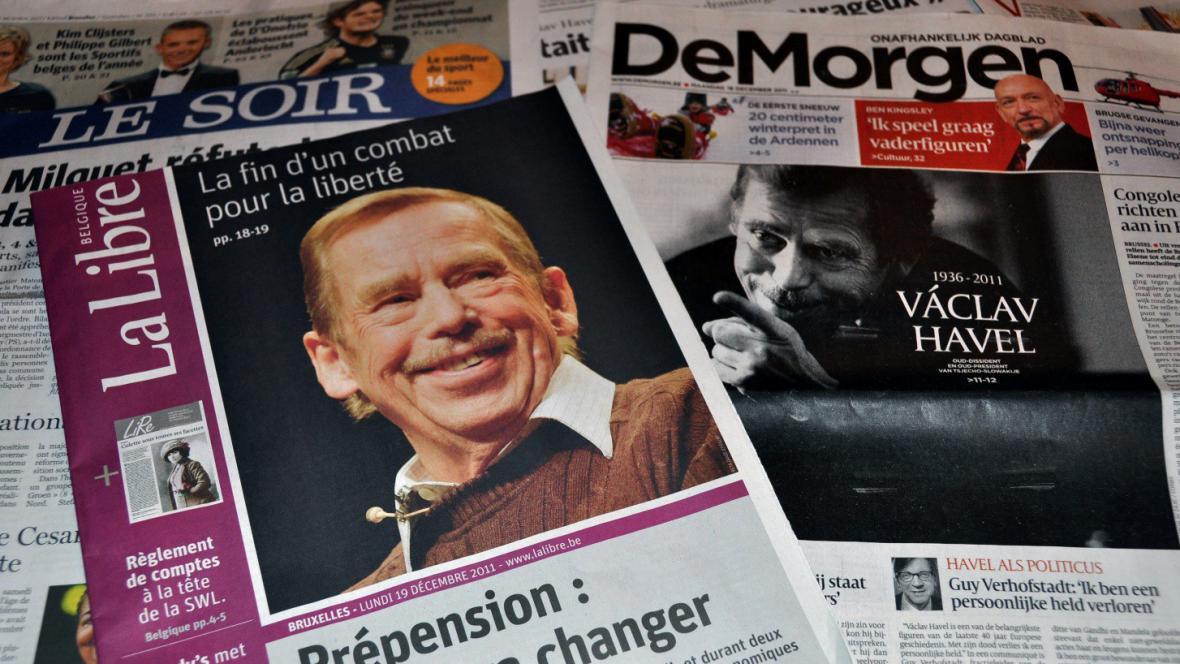 Belgické deníky píší o Havlovi