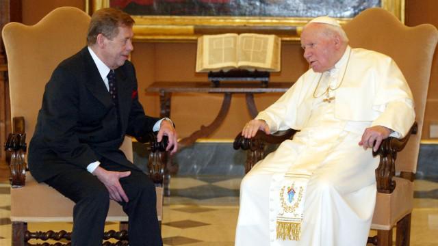 Václav Havel s papežem Janem Pavlem II.