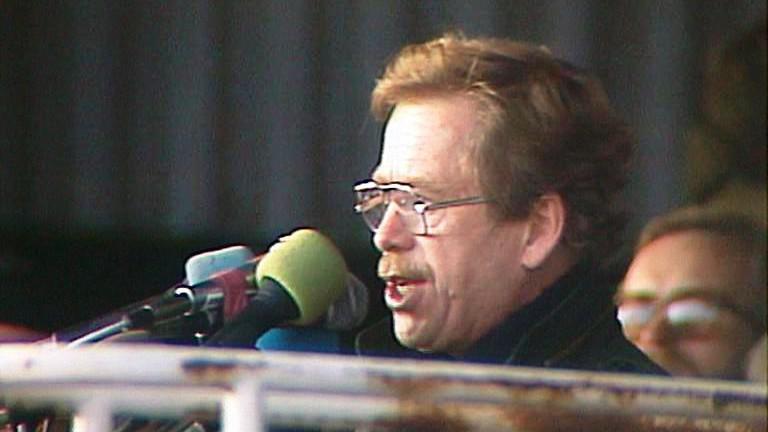 Václav Havel na Letné (1989)