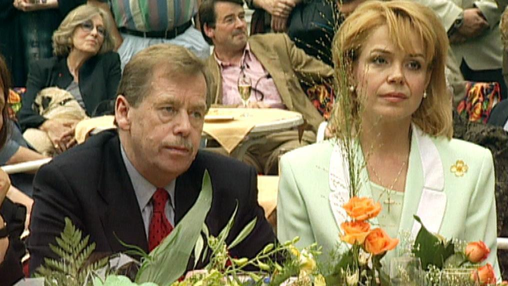Václav Havel a Dagmar Veškrnová (Havlová)