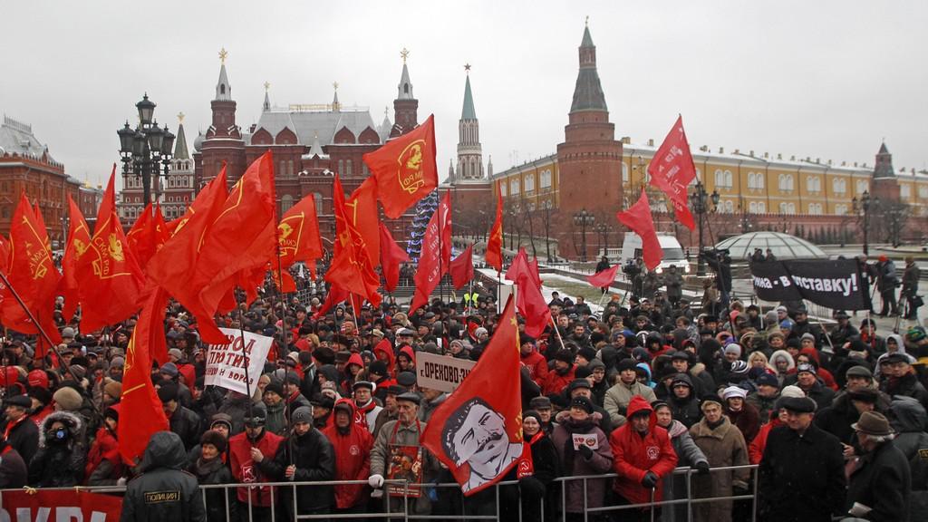 Protest ruských komunistů