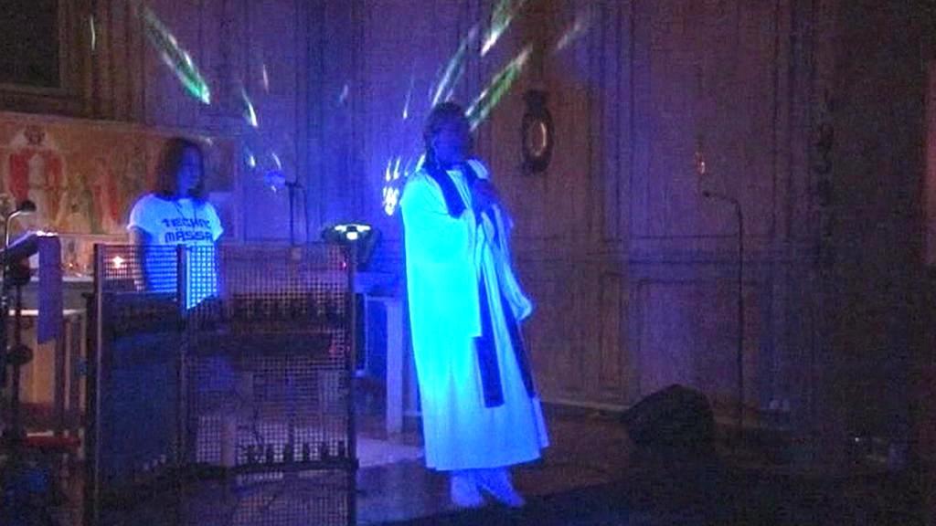 Technomše ve stockholmském kostele