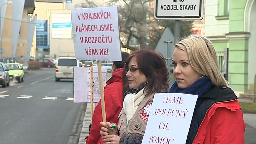 Demonstrace Arcidiecézní charity Olomouc
