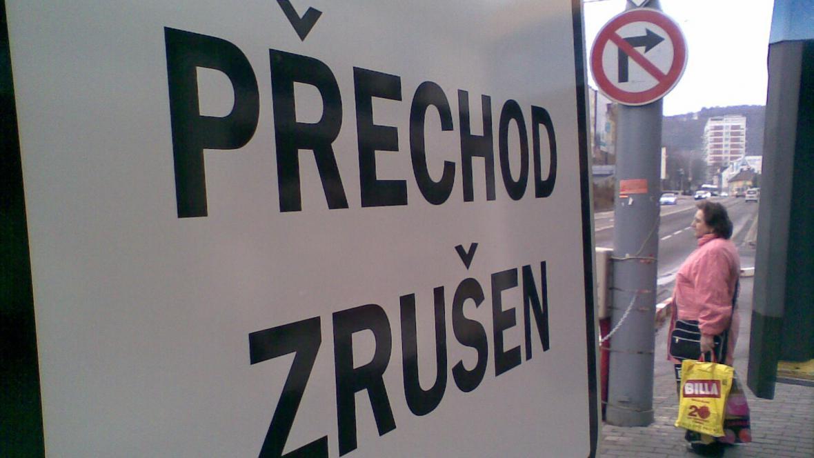 Zrušený přechod ve Zlíně