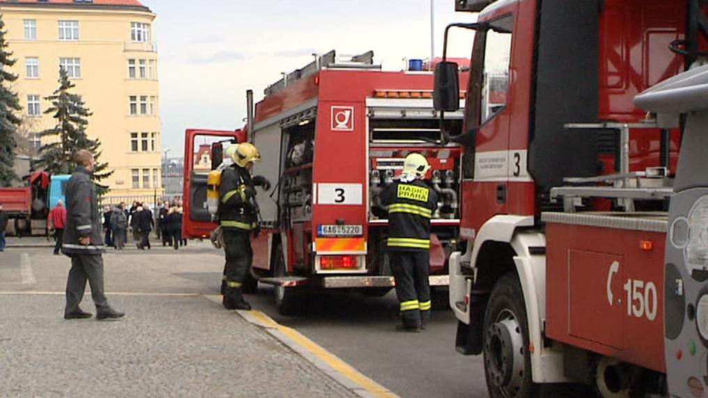 Cvičná evakuace Národního technického muzea