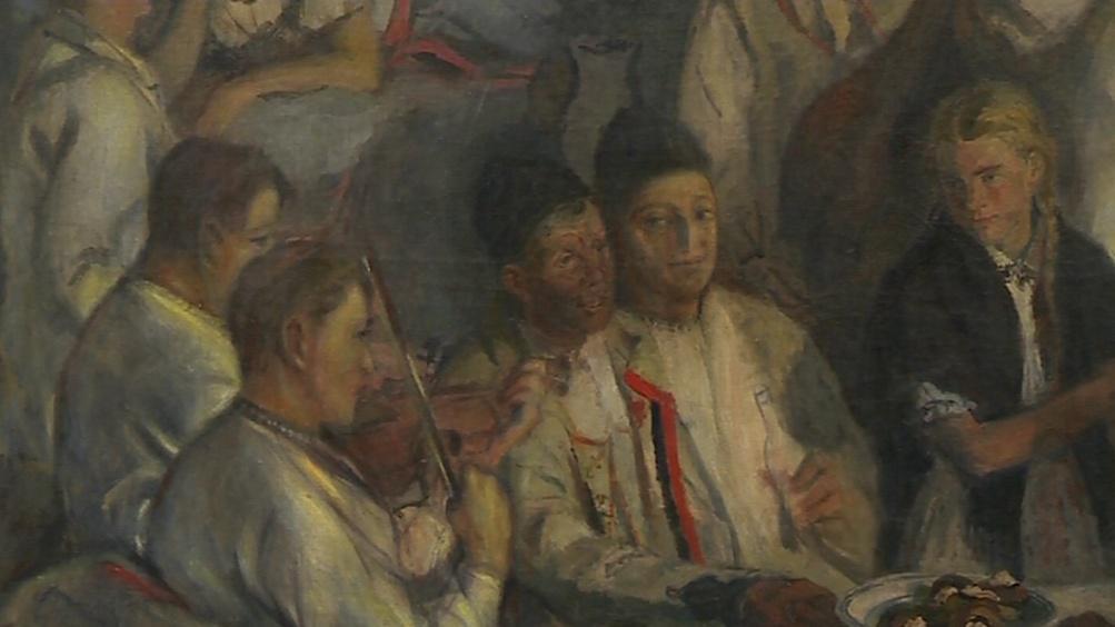 Muzikanti na obrazu Karla Mináře