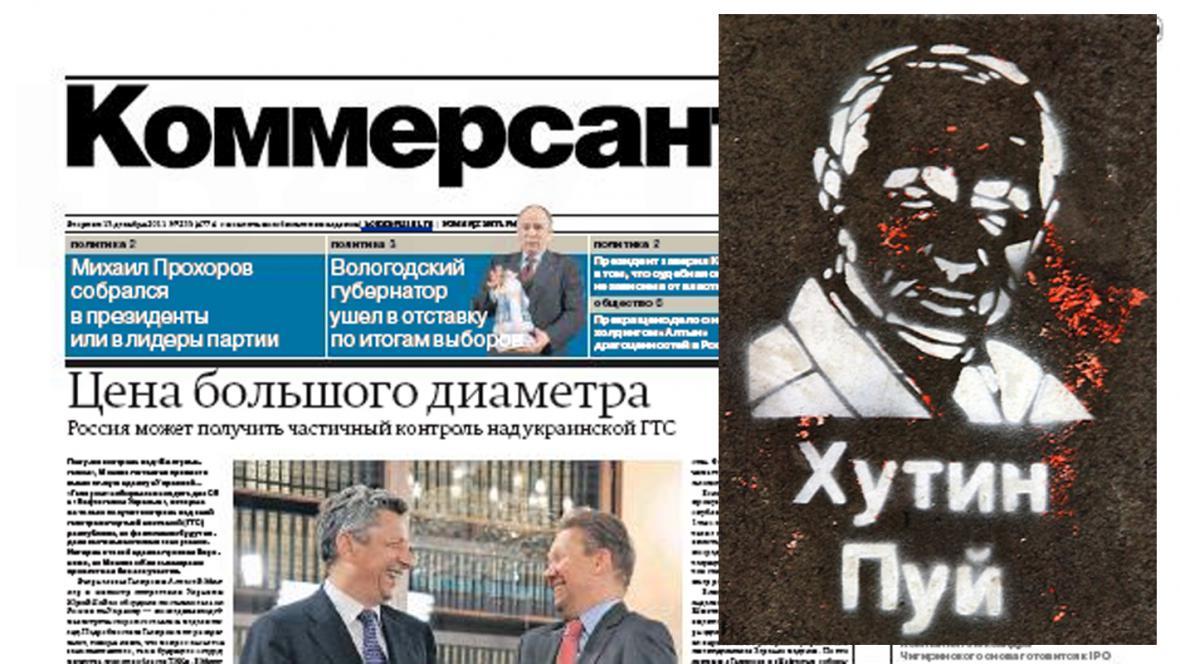 Kommersant a provokativní snímek Putina