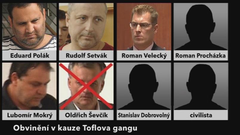 Obvinění v kauze Toflova gangu