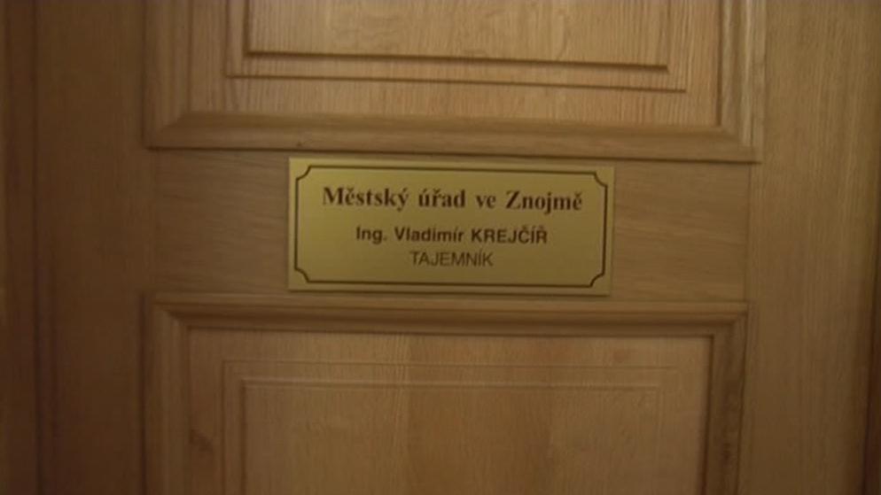 Kancelář bývalého tajemníka Znojma Vladimíra Krejčíře